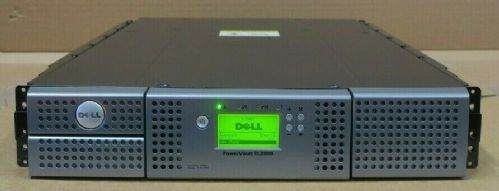 Dell Powervault TL2000 Rackmount Backup Tape Library LTO6-H SAS 2x Tape Magazine